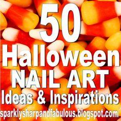 The Sparkle Queen: Top Halloween Nail Art Ideas and Inspiration! Cute Halloween Nails, Halloween Nail Designs, Halloween Ideas, Halloween Skull, Happy Halloween, Fingernail Designs, Nail Art Designs, How To Do Nails, Fun Nails