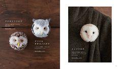 Японские звери-броши из помпонов - Ярмарка Мастеров - ручная работа, handmade