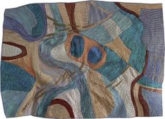Aerial map art quilt of the river Arun in West Sussex by Carol Naylor.