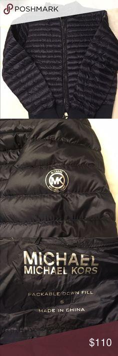 Authentic Michal Kors Dark blue Adorable jacket Michael Kors Jackets & Coats