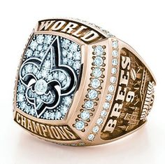 SUPER BOWL BLING - New Orleans Saints black and gold with diamonds - gemstonedblog.com - image from GIA