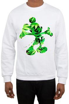 Magic custom - Sweatshirt mickey mouse Weed Weed Hoodies, Sweatshirts, Best Friend Outfits, Mickey Mouse Sweatshirt, The Little Mermaid, Bandana, Sewing Crafts, Street Wear, Kid