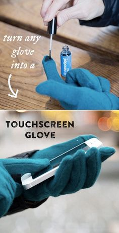 This will transform your favorite gloves into touchscreen gloves.