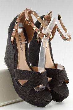 Τζιν πλατφόρμες ZJ-70 - Μαύρο  17,60€ Διαθέσιμο Wedges, Heels, Model, Black, Fashion, Heel, Mathematical Model, Moda, Black People