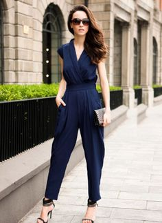 Woman's Ladies Fashion Casual Short Sleeves Harem Jumpsuit Romper Pants-in Jumpsuits & Rompers from Apparel & Accessories on Aliexpress.com