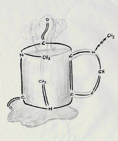 caffeine, molecular structure