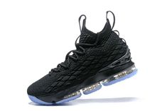 best sneakers 9f442 494b2 Cheapest And Latest New Arrival March 2018 Nike Cheap LeBron 15 XV Black  Blue Basketball Shoes