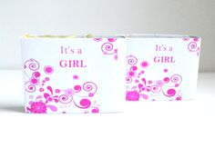 Its a Girl 150 Customized Baby Shower  Soaps . 1.5 oz Soap Favors . Baby Girl Favors . Handmade natural soaps . Medium soap . Μπομπονιέρα by NaturalBeautyLine on Etsy