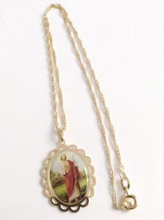 St Jude Medal Necklace - Santos