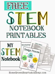 Home Grown Hearts Academy Homeschool Blog: 10 Of Our Favorite STEM Resources and FREE STEM Notebook Printables
