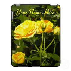Yellow Roses iPad Case  Gorgeous Yellow Roses *Customize/Personalize* iPad Case