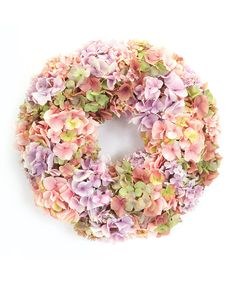 Look at this Pink Mixed Hydrangea Wreath on #zulily today!