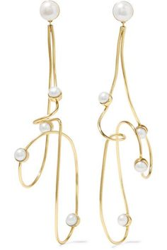 Cornelia Webb - Gold-plated Pearl Earrings - One size