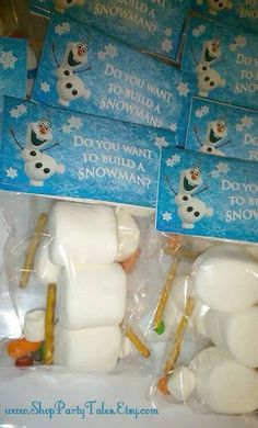 Do you want to build a snowman  activity at a Frozen birthday party! See more party planning ideas at CatchMyParty.com!