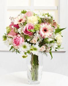 Fleurop.hu. Pasztell varázslat Pink Bouquet, Ale, Glass Vase, Spring, Decor, Decoration, Ale Beer, Decorating, Ales