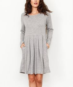 éloges Gray Pleated Sweater Dress | zulily