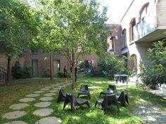 collectieve leefbare tuin midden in een getransformeerd stadsblok; P.NT2, BOB.361 architecten, Brussel