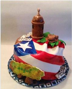 Puerto Rico Birthday Cake - cake by Caroline Diaz - CakesDecor Puerto Rican Dishes, Puerto Rican Cuisine, Puerto Rican Recipes, Puerto Rican Cake Recipe, Themed Birthday Cakes, Themed Cakes, Happy Birthday, Cupcakes, Cupcake Cakes