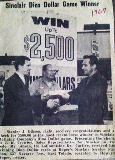 Dino Dollar Day winner from Sales Representative, Crowley, Old Trucks, Congratulations