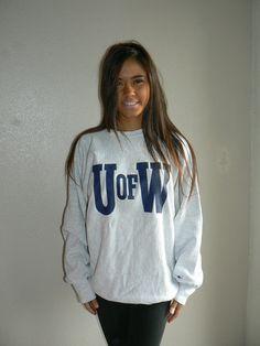 Vintage University Of Washington Go Huskies grey sweatshirt size XL on Etsy, $28.00