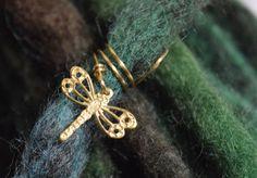 Dragonfly Dread Beads -  Beads for Dreadlocks & Braids - by Cheyenne Le Hale -NVCL3ARBVTT3RFLY #dreadbeads #dragonflyjewelry #beadsfordreadlocks