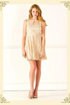 Claire Sparkly Lace Dress - Francescas