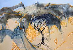 art of keith joubert Wildlife Paintings, Wildlife Art, Animal Paintings, African Paintings, Bug Art, South African Artists, African Animals, Tribal Animals, Arte Pop
