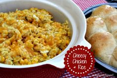 Mommy's Kitchen: Crock Pot Cheesy Chicken & Rice