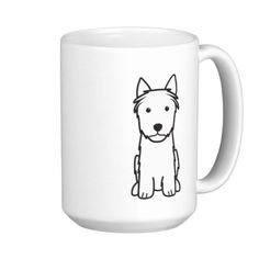 Silky Terrier Dog Cartoon Mug