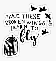 Broken Wings Sticker