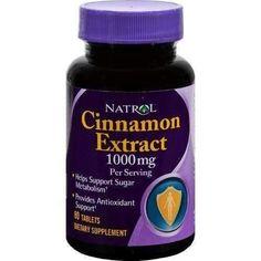 Natrol Cinnamon Extract - 1000 mg - 80 Tablets