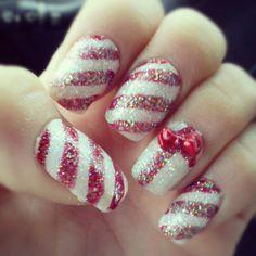 Peppermint nail design