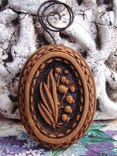 Primitive LILLY CAMEO in Blackened Beeswax by BlackRockFolkArt, $16.99