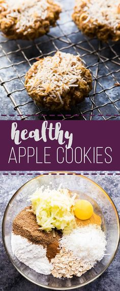 These Healthy Apple Almond Butter Snack Cookies are sweet enough to satisfy your sweet tooth, but are filled with healthy ingredients. No refined sugar and TWO CUPS of shredded apple.