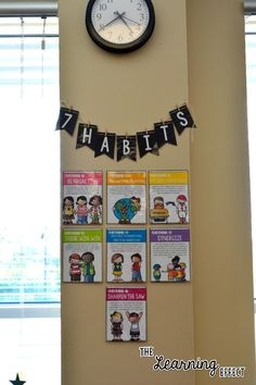 7 Habits Posters | The Learning Effect Middle School Classroom, New Classroom, Classroom Design, Classroom Organization, Classroom Management, Classroom Bunting, Classroom Decor, 7 Habits Posters, Healthy Habits For Kids
