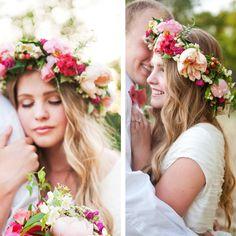 flower crown bride - Buscar con Google