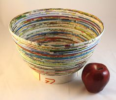 Large Upcycled Paper Bowl