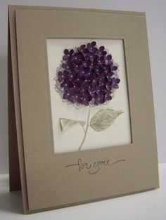 Hydrangea for Susan - QFTD151 by Loll Thompson - Cards and Paper Crafts at Splitcoaststampers