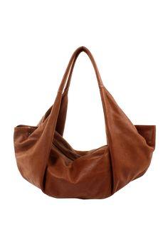 Large Half-Moon Leather Bag