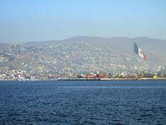 Ensenada, as seen from the bay, Baja California, Mexico