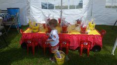 Cars birthday kids table