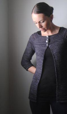Hematite cardigan design, available on Ravelry