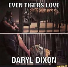 "Daryl (Norman Reedus) and Shiva | Season 7:Episode 10 - ""New Best Friends"""