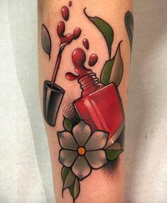 Red Nail Polish Tattoo