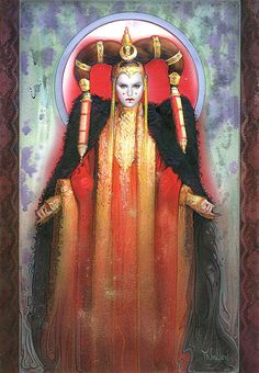 Star Wars Illustrations by Terese Nielsen /// Queen Amidala Star Wars Padme, Amidala Star Wars, Queen Amidala, Star Wars Fan Art, Sith, Rainha Amidala, Star Wars Brasil, Star Wars Quotes, The Phantom Menace