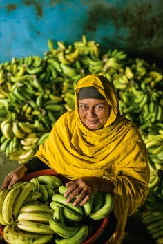 Beautiful photographs of a banana harvest in Sajiali, Bangladesh by Jim Richardson, National Geographic. We Are The World, People Around The World, Around The Worlds, National Geographic, Brunei, Nepal, Mellow Yellow, Photos, Pictures