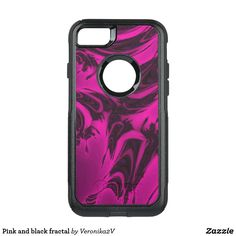 Pink and black fractal OtterBox iPhone 6/6s case, photo, photography, artwork, buy, sale, gift ideas, pink, black, spots, fractal, magenta, bright, purple, colorful, dark, abstract,  skin, skins, case, cases, gadget, gadgets, decor, design,  apple, phone, phones,  iphone, samsung
