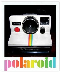The Polaroid instant camera was first launched in the 1960's, but became popular during the 70s and 80s. I always remember the excitement of taking my first polaroid picture and watching it develop before my eyes!