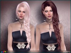 Long side braid  Found in TSR Category 'Sims 4 Female Hairstyles'