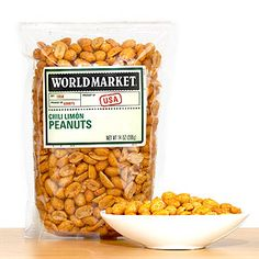 Any bar needs nuts, these look incredible!  World Market® Chili Limon Peanuts | World Market